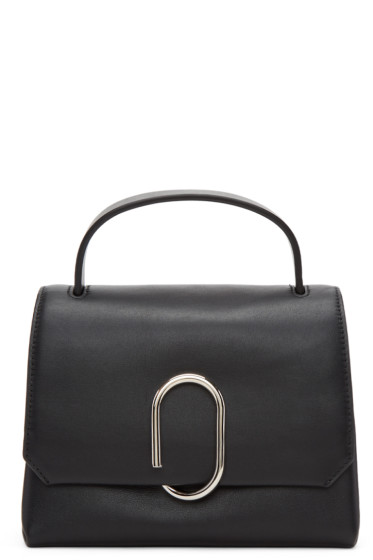 3.1 Phillip Lim - Black Mini Alix Top Handle Satchel