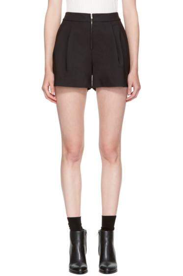 3.1 Phillip Lim - Black Exposed Zip Shorts