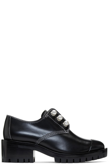 3.1 Phillip Lim - Black Lug Zipper Pearl Oxfords