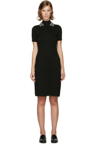 Carven - Black Jewelled Collar Dress