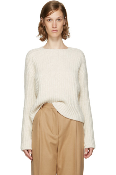 Carven - Ecru Purl Stitch Crewneck Sweater