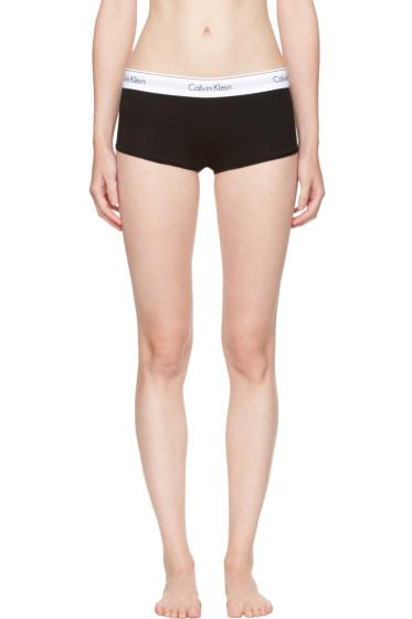 Calvin Klein Underwear - Black Modern Cotton Boy Shorts