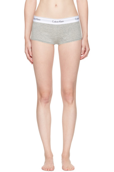 Calvin Klein Underwear - Grey Modern Cotton Boy Shorts