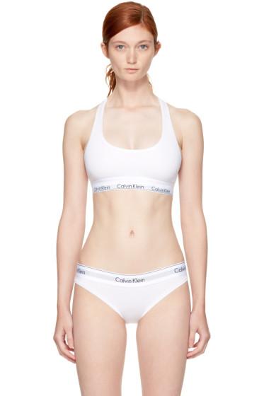Calvin Klein Underwear - White Modern Cotton Bralette