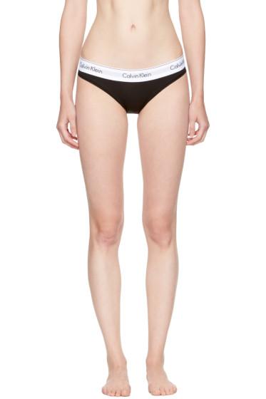 Calvin Klein Underwear - ブラック モダン コットン ビキニ ブリーフ