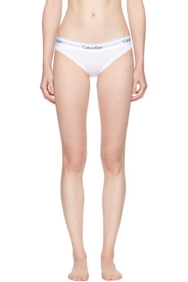 Calvin Klein Underwear - ホワイト モダン コットン ビキニ ブリーフ