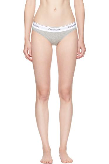 Calvin Klein Underwear - グレー モダン コットン ビキニ ブリーフ