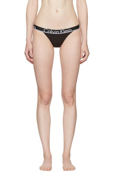 Calvin Klein Underwear - ブラック タンガ ブリーフ