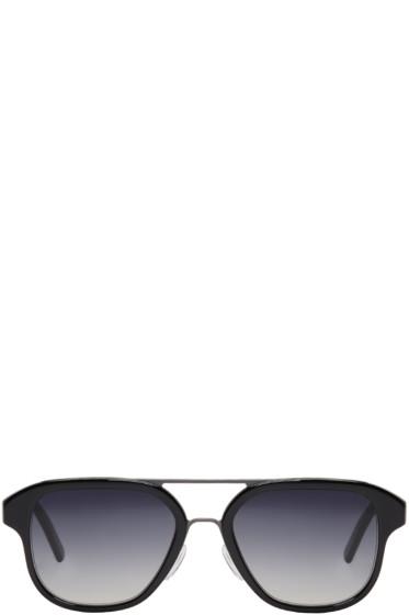 Cutler And Gross - Black 1228 Aviator Sunglasses