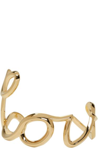 Chloé - Gold 'Love' Cuff