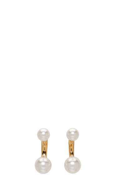 Chloé - Gold Small Darcey Round Earrings