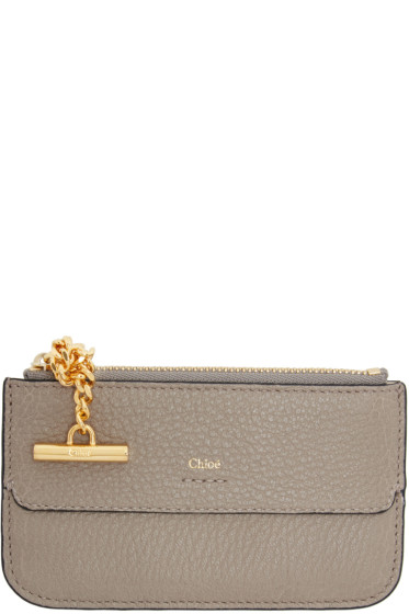 Chloé - Grey Drew Card Holder