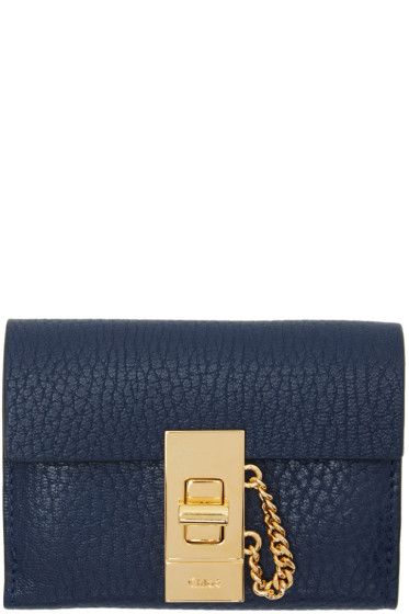 Chloé - Navy Mini Drew Wallet