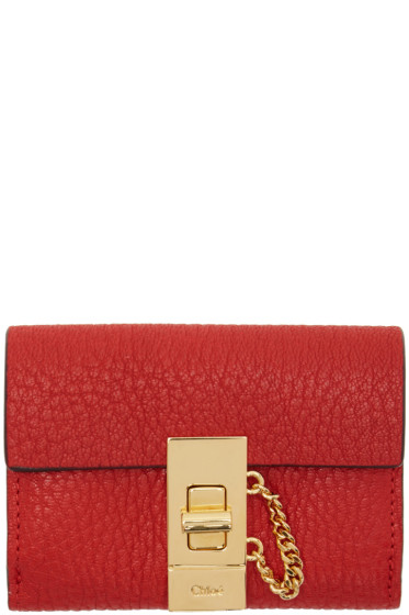 Chloé - Red Mini Drew Wallet