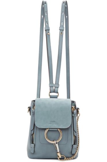 Chloé - Blue Mini Faye Backpack