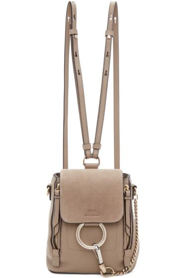 Chloé - Grey Mini Faye Backpack
