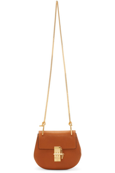 Chloé - Tan Mini Drew Bag