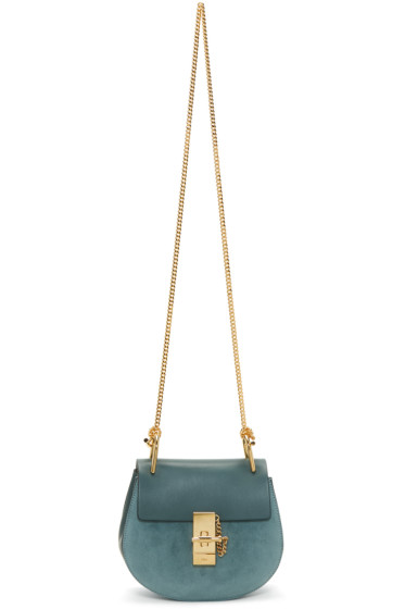 Chloé - Blue Mini Drew Bag