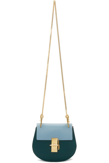 Chloé - Green & Blue Mini Drew Bag