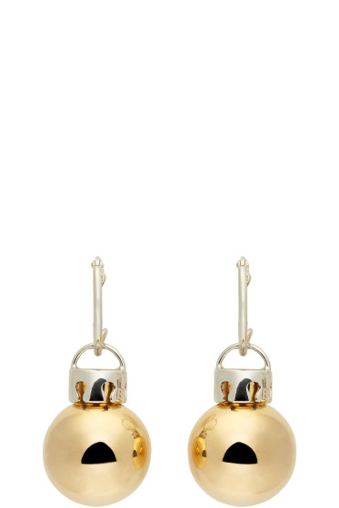 Balenciaga - Gold & Silver December Ball Earrings