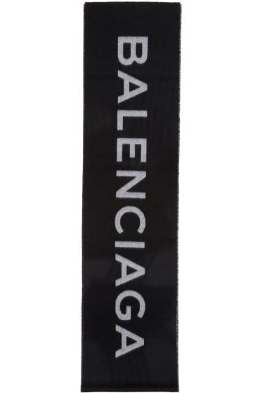 Balenciaga - Black Logo Scarf