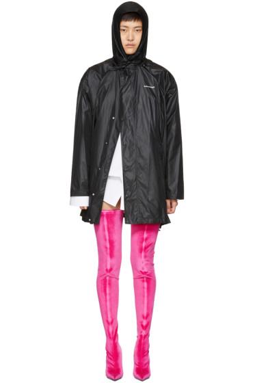 Balenciaga - ブラック スカーフ ウィンドブレーカー ジャケット