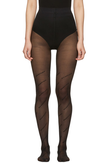 Balenciaga - Black Logo Tights