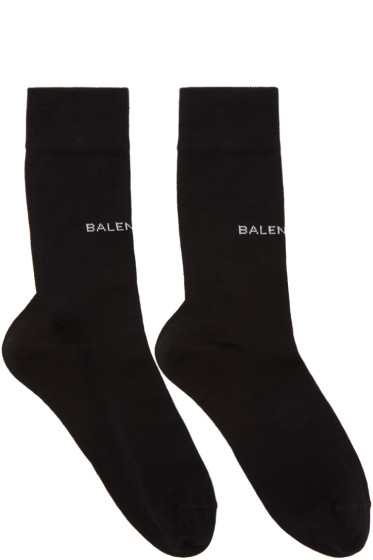 Balenciaga - Black Logo Socks