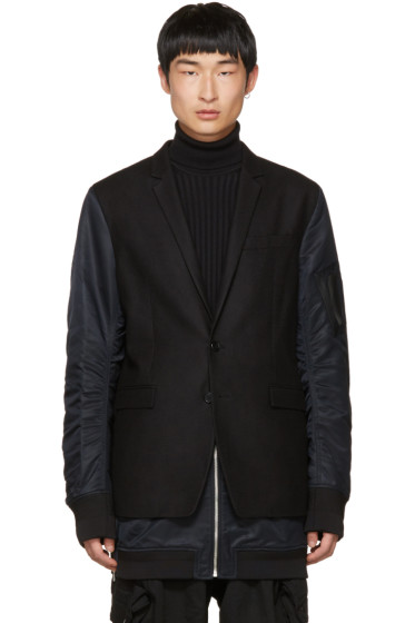 Juun.J - Black Blazer Coat