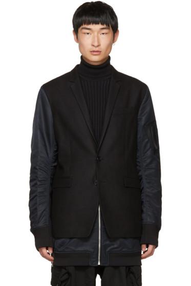 Juun.J - Black Blazer Coat