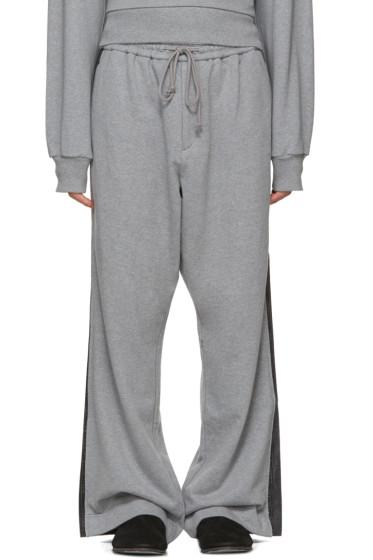 Juun.J - Grey Wide-Leg Lounge Pants