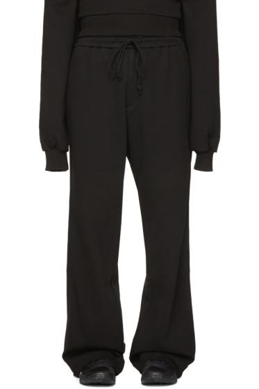 Juun.J - Black Wide-Leg Lounge Pants
