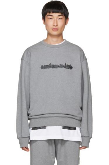 Juun.J - Grey 'Nowhere To Hide' Sweatshirt