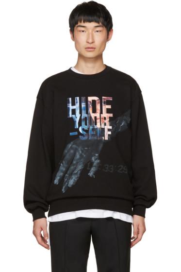 Juun.J - Black 'Hide Yourself' Sweatshirt