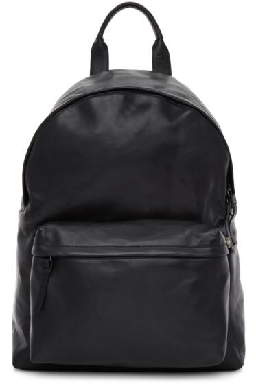 Officine Creative - Black Leather OC Pack Backpack