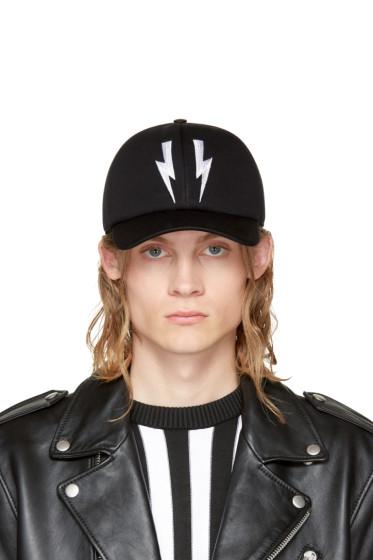 Neil Barrett - Black Neoprene Thunderbolt Cap