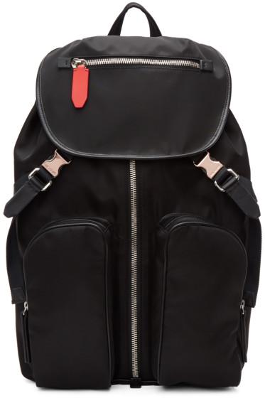 Neil Barrett - Black Nylon Flap Backpack