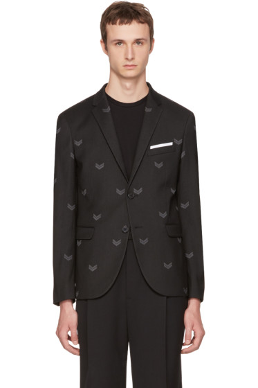 Neil Barrett - Black Military Skinny Blazer