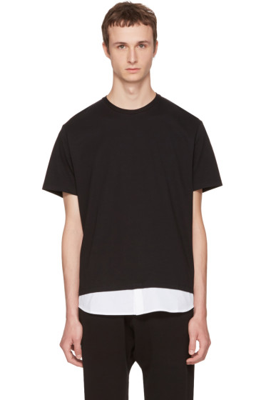 Neil Barrett - Black & White Combo T-Shirt