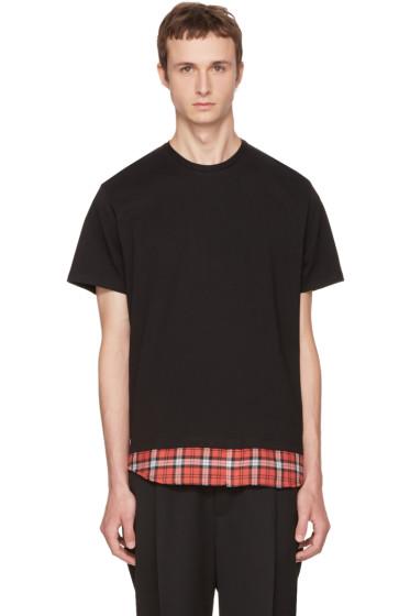 Neil Barrett - Black Tartan Combo T-Shirt