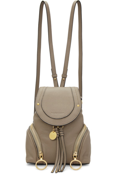 See by Chloé - Grey Convertible Backpack