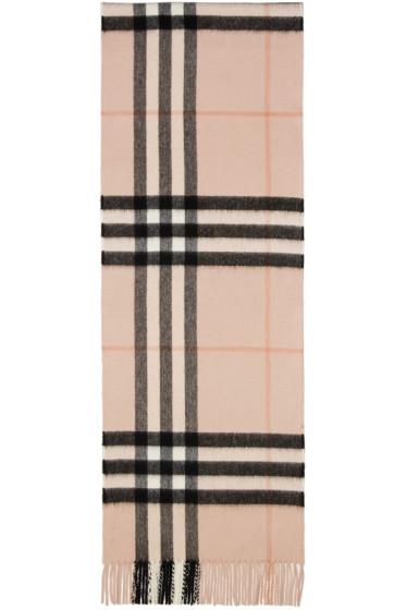 Burberry - ピンク ジャイアント アイコン スカーフ