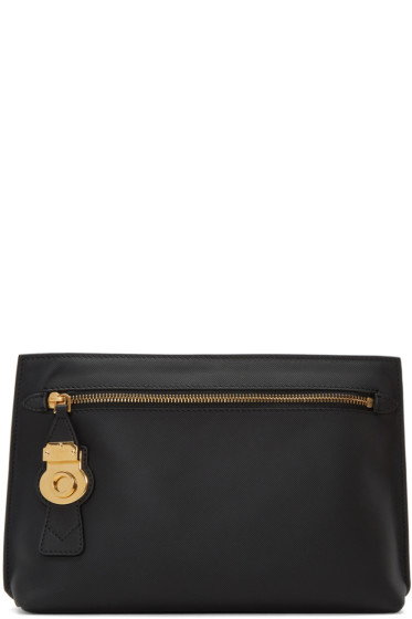 Burberry - Black Leather Lock Pouch