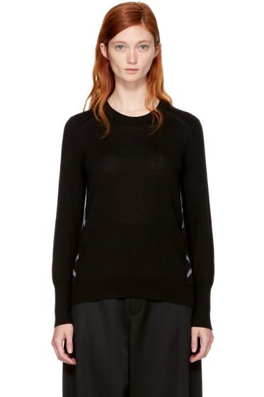 Burberry - ブラック メリノ メイガン セーター