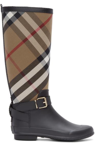 Burberry - Black Simeon Rain Boots