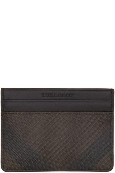 Burberry - Brown Check Sandon Card Holder