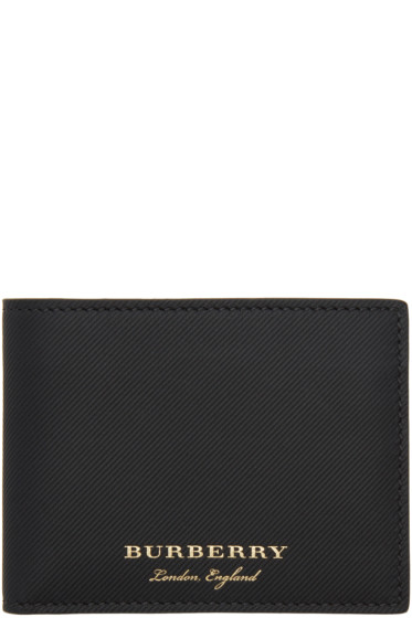 Burberry - Black Leather Hipfold Wallet