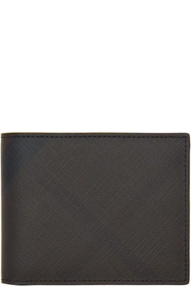 Burberry - Brown London Check Hipfold Wallet