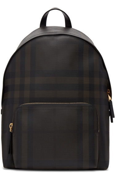 Burberry - Brown Abbeydale London Check Backpack