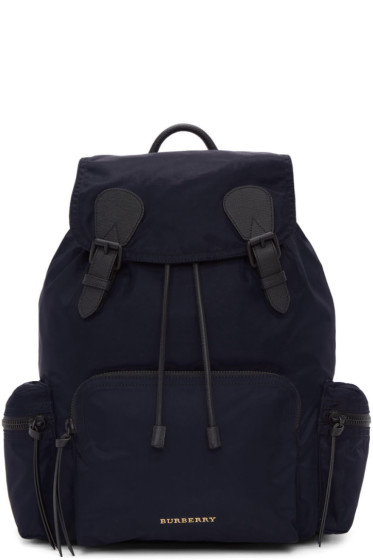 Burberry - Navy Large Nylon Rucksack